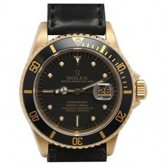27833ce7e8 ROLEX Yellow Gold Transitional Submariner Wristwatch Ref 16808 circa 1982  (via  1stdibs) Casio