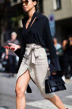 chic tie skirt
