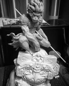 #TheMonkeyKing #SaiyukidenDaienou #katsuyaterada  #seitentaisei #sunwukong #goku #supersculpey #sculpture #handmadefigure #declaystudio