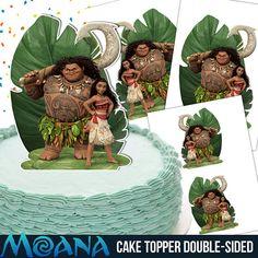 Moana Cake Topper Double-Sided/Moana Centerpiece/Moana