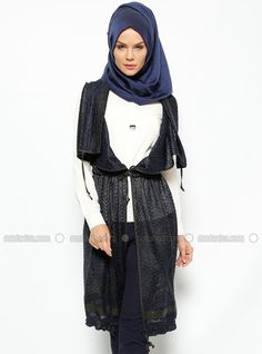Salas Cardigan - Navy Blue, Cardigans. Modanisa your online muslim modest fashion store. Thousands of items at discounted prices. Start shopping.