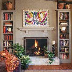 Fireplace   Our 20 Best Before  Afters | http://awesome-beautiful-garden-decors.blogspot.com
