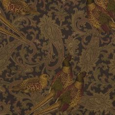 Hunting Manor Paisley - Sable - Paisley - Fabric - Products - Ralph Lauren Home - RalphLaurenHome.com