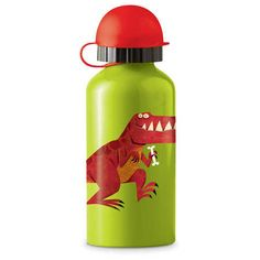 Crocodile Creek Eco Kids Green Dinosaur TRex Stainless Steel Water Drinking Bottle Toy * See this great product. Fancy Water Bottles, Drinking Water Bottle, Drink Bottles, Eco Kids, Little Red Hen, Metal Containers, Stainless Steel Water Bottle, T Rex, A Table