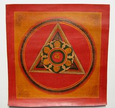 Currently at the #Catawiki auctions: Original Mandala thangka oil painting - Nepal - second half of the 20th centu...