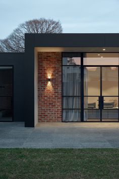 The Unbricked House by Merrylees Architecture alters the architectural fabric of a traditional Victorian home to suit the clients changing lifestyle. You are in the right place about aluminium facade Modern Brick House, Modern House Design, Modern House Facades, Brick Facade, Facade House, Red Brick Exteriors, Facade Design, Exterior Design, Brick Architecture