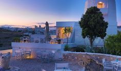 The Windmill Hotel is a stunning getaway located on Kimolos, an island in the Aegean Sea, in Greece. The Windmill Hotel, on the tiny volcanic island of Kim Greece Today, Tolle Hotels, Mykonos Villas, Greece Hotels, Just Dream, Great Hotel, Around The Worlds, Exterior, House Design