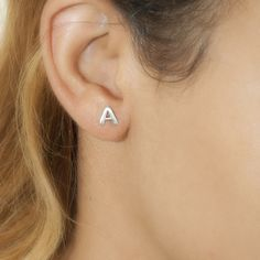 Block Stud Earrings