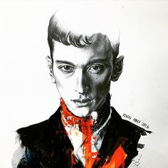 UFO @hideki_asahina  #hidekiasahina #fashiondrawing #face #art #artwork #arte#drawing #pencil #painting #acrylic #model##malemodel#japanese#texture#instaart #imperfect #inspiration #illustration #skin #イラスト#ファッション#ファッションイラスト#絵