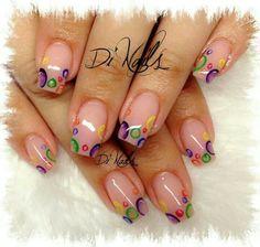 Love the idea and color Diy Nails, Cute Nails, Lynn Nails, Nail Deco, Sculptured Nails, Nail Techniques, Beautiful Nail Designs, Gorgeous Nails, Nail Arts