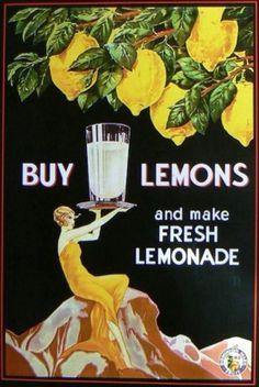 Buy Lemons Vintage NZ Advertisement Vintage retro style home decor at www.rubylane.com @rubylanecome #RubyLane #collectibles