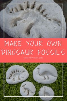 Dinosaur fossils are a quick, easy (and relatively mess free) craft activity for kids who love dinosaurs. Let their imaginations and creativity run free as they create their very own dinosaur fossils using nothing more than some salt dough and their favou Dinosaur Crafts Kids, Dino Craft, Dinosaur Projects, Dinosaurs Preschool, Toddler Crafts, Dinosaurs For Toddlers, School Holiday Activities, Craft Activities For Kids, Preschool Crafts