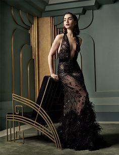 Lily Collins    Vanity Fair's Oscar After-party Portrait