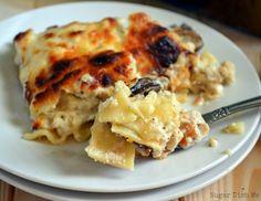 Chicken Lasagna with White Sauce