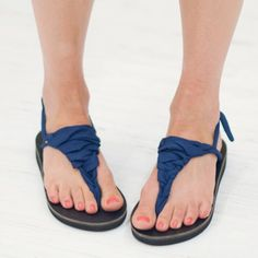 Navy Sandal Ribbons | Sseko Designs