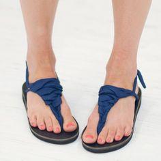 Navy Sandal Ribbons | Sseko Designs