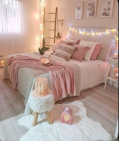 Bedroom Decor For Teen Girls, Cute Bedroom Ideas, Room Ideas Bedroom, Home Decor Bedroom, Diy Bedroom, Bedroom Inspiration, Master Bedroom, Decor Room, White Bedroom
