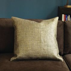 gilded grasscloth pillow cover