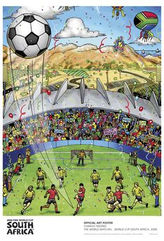 Charles Fazzino has been commissioned as one of 17 international artists to create an artwork featured in the 2010 FIFA World Cup Soccer Official Poster Edition. #popart #3dpopart #charlesfazzino #sportsart