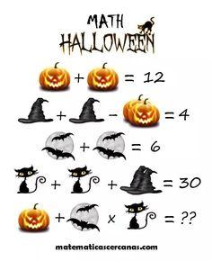 / Can you solve the riddle? Halloween Riddles, Halloween Scavenger Hunt, Halloween Crafts For Kids, Halloween Activities, Diy Halloween Decorations, Halloween Themes, Halloween Juegos, Toddler Halloween, Math Genius