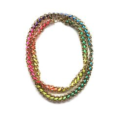 Neon Kumihimo necklace (50% off!)