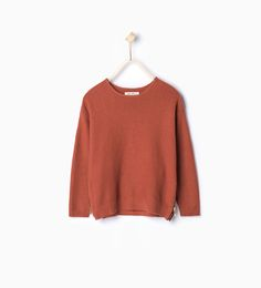 Image 1 of Knit sweater with side zips from Zara