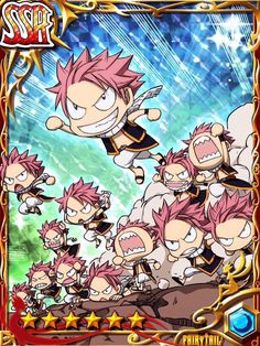 Horde of mini natsus Fairy Tail Games, Fairy Tail Art, Fairy Tail Guild, Fairy Tail Manga, Fairy Tail Ships, Anime Fairy, Fairy Tales, Male Fairy, Fairy Tail Pictures