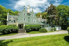 1890 Cottage For Sale In Kennebunkport Maine Kennebunkport Maine, Gambrel Roof, Roof Lines, Old House Dreams, Real Estate Companies, Cottage Homes, Old Houses, My Dream Home, House Tours