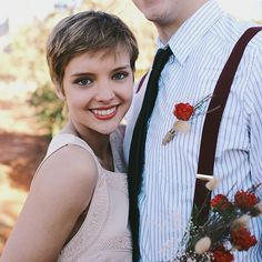 Brides.com: Wedding Hairstyles for Brides with Short Hair | A Pixie Haircut Simply Styled