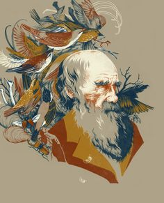 The Descent of Man: A portrait of Charles Darwin by Teagan White