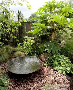 Small Water Features In Every Small Garden - Garden Design House Diy Water Feature, Backyard Water Feature, Ponds Backyard, Backyard Landscaping, Landscaping Ideas, Japanese Water Feature, Backyard Ideas, Backyard Shade, Walkway Ideas
