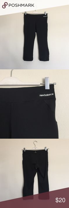 New Balance black lightning dry Capri cropped pant Excellent condition. Stretchy and tight all the way through. Bundle to save 25%! New Balance Pants Ankle & Cropped