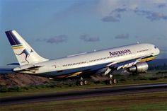 "Australian Airlines Airbus A300B4-203 VH-TAB ""John Oxley"" arriving at Sydney-Kingsford Smith, circa 1990. (Photo: Rob Finlayson)"