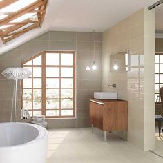 Discover our Ceramic Wall from Roca Tile USA: Indoor and outdoor ceramic tiles Quarry Tiles, White Wall Tiles, Zen, Ceramic Wall Tiles, Modern Bathroom, Bathroom Ideas, Tiled Bathrooms, Corner Bathtub, Wall Colors