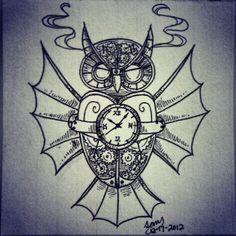 Steampunk Owl by wildxside.deviantart.com on @deviantART