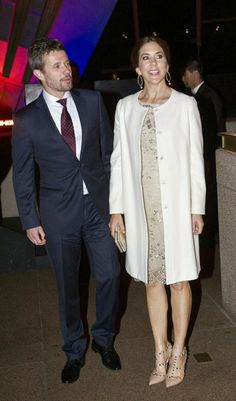TRH Crown Prince Frederik and Mary attend the gala celebrating the 40th anniversary of Australia's Sydney Opera House 10/27/13