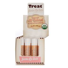 POS 24 Pack - TREAT© Jumbo Lip Balm - Coconut Cream, Organic and Cruelty Free (.50 OZ) *** Find out more about the great product at the image link. (Note:Amazon affiliate link) #Makeuplipstick