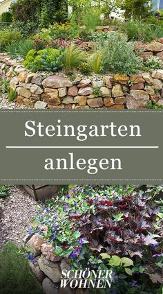 Create rock garden - how it works!- Steingarten anlegen – so geht's! Rockeries are diverse because they provide attractive and easy ways to turn difficult gardening situations into thriving landscapes. We give practical tips on creating a rock garden. Diy Garden Projects, Diy Garden Decor, Garden Art, Rocks Garden, Garden Works, Terrace Garden, Back Gardens, Outdoor Gardens, Amazing Gardens