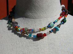 Confetti Fun Long Necklace by juRnE on Etsy, $30.00