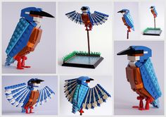 British Birds made of LEGO blocks, put together by DeTomaso Pantera.