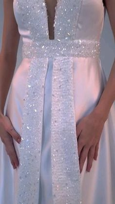 Fancy Wedding Dresses, Elegant Wedding Dress, Bridal Dresses, Wedding Dress Sewing Patterns, Dress Patterns, Couture Sewing Techniques, Embroidery Fashion, Handmade Dresses, African Fashion Dresses