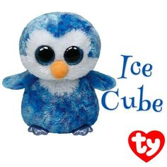 Ty Beanie Boos Ice Cube - Penguin: The world famous Beanie Babies Beanie Boos are forever filled with fun. Ultra iconic, ever loved. Ty Beanie Babies are the best. Big Eyed Stuffed Animals, Big Eyed Animals, Ty Animals, Plush Animals, Beanie Babies, Ty Babies, Baby Kids, Ty Beanie Boos Collection, Ty Peluche