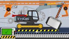 Thor Excavator   Toy Factory   Video For Kids - Koparka z Fabryki Zabawek