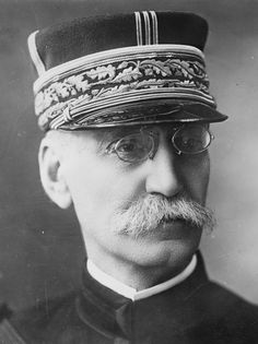 May 27, 1916 - Death of General Gallieni, The Hero of the Marne. Famous for his colonial conquest of Madagascar, General Joseph Gallieni retired from the French Military in 1914, only to be called back up in August and placed in charge of the garrison of Paris. While Joffre's attacks were crumbling, leaving the German push through Belgium almost unchecked, Gallieni mustered his soldiers and sent them rushing into battle, thousands mounted, famously, on taxis.
