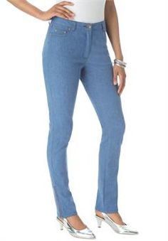 Plus Size Side Zip Skinny Jeans