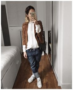 "5,091 mentions J'aime, 36 commentaires - Audrey Lombard (@audreylombard) sur Instagram : ""Tenue et détails d'hier : • Jacket #sezane (from @sezane) • Shirt #harpeparis (from…"""