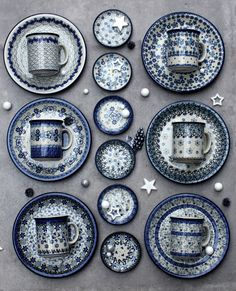 Winter collection . Handmade Polish Pottery from ELIMAshop.cz . Pottery from Boleslawiec .