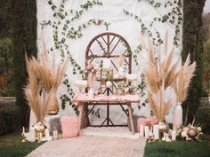 Copper Marble Pampass Grass Inspo - Lady Liberty Events - Read More on SMP: http://stylemepretty.com/vault/gallery/68673