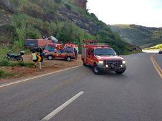 Motorista de caminhão morre em acidente na BR-458