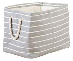 InterDesign Luca Woven Paper Cotton Soft Storage Cube for Blankets, Pillows - Gray/Cream Closet Storage Bins, Fabric Storage Bins, Laundry Storage, Laundry Hamper, Cube Storage, Plastic Storage, Closet Organization, Cubes, Driven By Decor